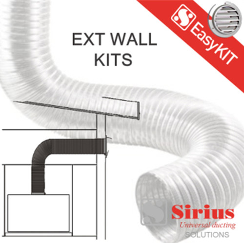 125/150MM WALL VENT KIT INC GDR125/150