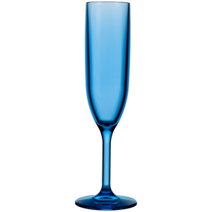 Drinique Blu Unbreakable Champagne Flute 6 oz Blue Tritan