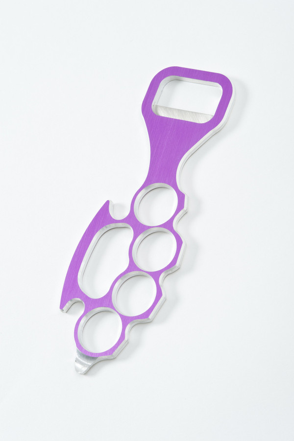 Lady Knuckle Bottle Opener in Purple
