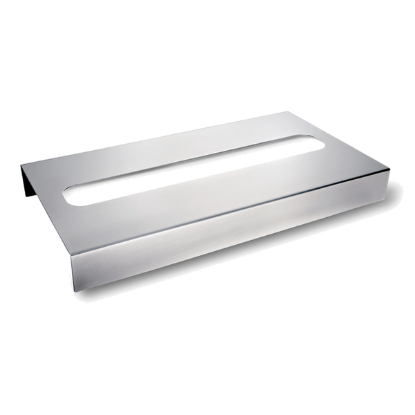 Drinique Brushed Aluminum Trash Bin Cover for Loss Prevention