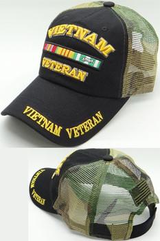 e2cc8b8086db7a ... aliexpress vietnam veteran cap cotton trucker air mesh black woodland  camo 45afe e1a5a ...