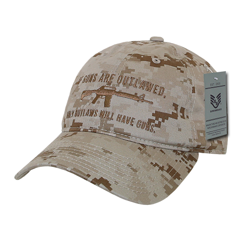 A03 - Outlaw Cap - Relaxed Cotton - Desert Digital Camouflage