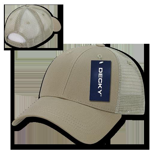 Low Crown Mesh Golf Cap - Khaki/Khaki