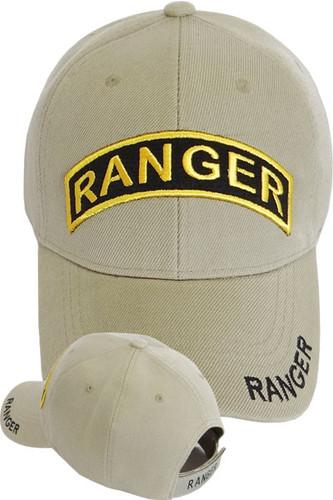 US Army Ranger Logo Cap - Khaki