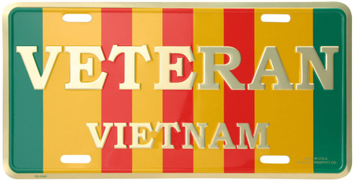 LVVE - Vietnam Veteran Service Ribbon License Plate - Made in USA