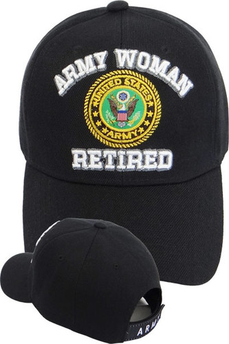 U.S. Army Woman Retired Cap - Black