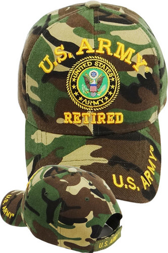 U.S. Army Retired Cap - Woodland Camo