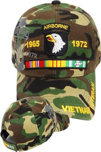 101st Airborne Vietnam Veteran Shadow Cap - Woodland Camo
