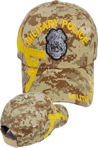 U.S. Army Military Police Crossed Pistols Cap - Desert Digital Camouflage
