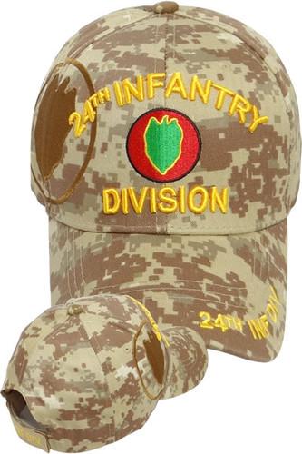 24th Infantry Division Cap - Desert Digital Camouflage