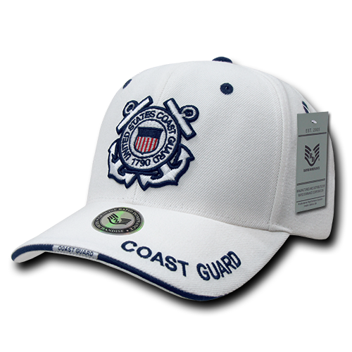 S22 - Military Cap - U.S. Coast Guard - White