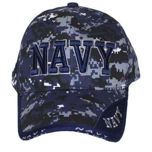 10077 - Military Hat - U.S. Navy - Blue Digital Camouflage