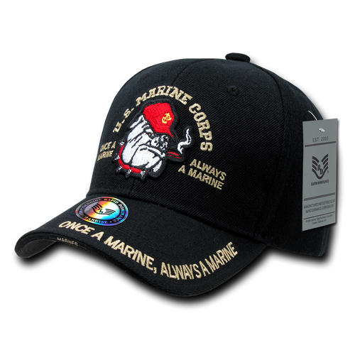 S001 - Marines Bulldog Cap Black