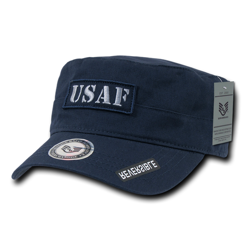 S88 - Air Force Cap - USAF - Vintage Military Style - Reversible - Logo - Blue