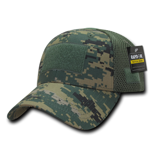 T80 - Tactical Cap - Low Crown Air Mesh - Digital Camouflage Woodland