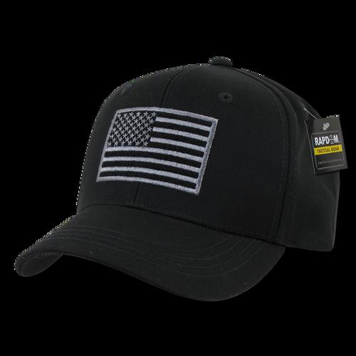 T76 - Tactical Operator Cap - American Flag Subdued - Black