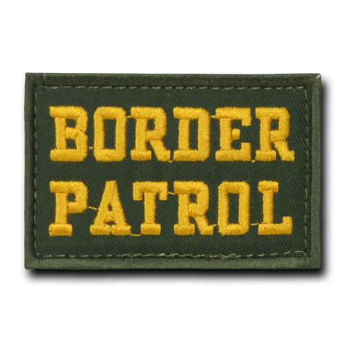 "T91 - Tactical Patch - Border Patrol - Velcro Canvas (3""x2"") - Olive Drab"
