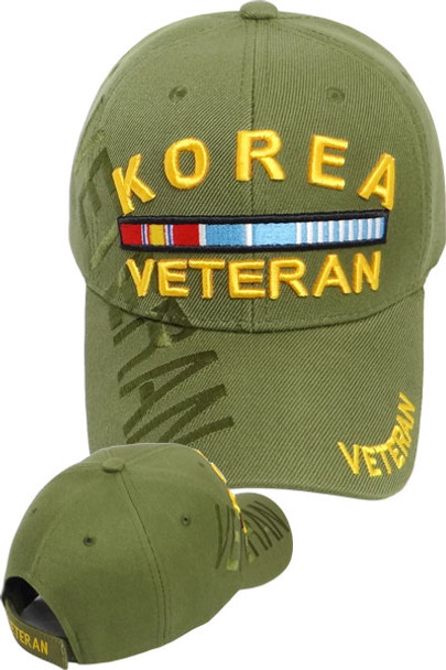 Korea Veteran Cap with Ribbons - Olive Drab - U.S. Military Hats 61d5e35352ad