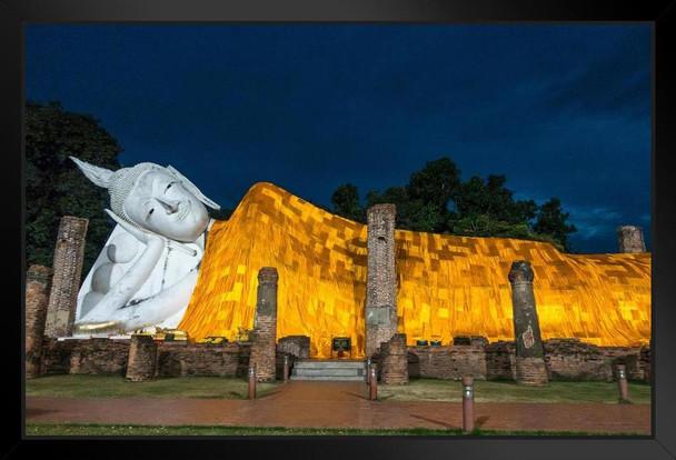 Wat Khun Inthra Pramun Temple Thailand Photo Art Print Framed Poster 20x14 inch