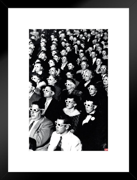 Time Life 3D Movie Viewers Photo Art Print Matted Framed Poster 20x26 inch