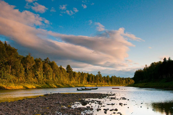 Laminated Scenic Miramichi River New Brunswick Canada Photo Art Print Sign Poster 18x12 inch