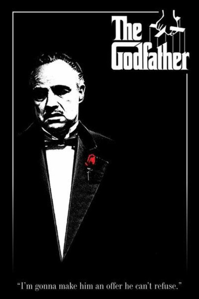 The Godfather Red Rose Offer He Cant Refuse Movie Poster 11x17