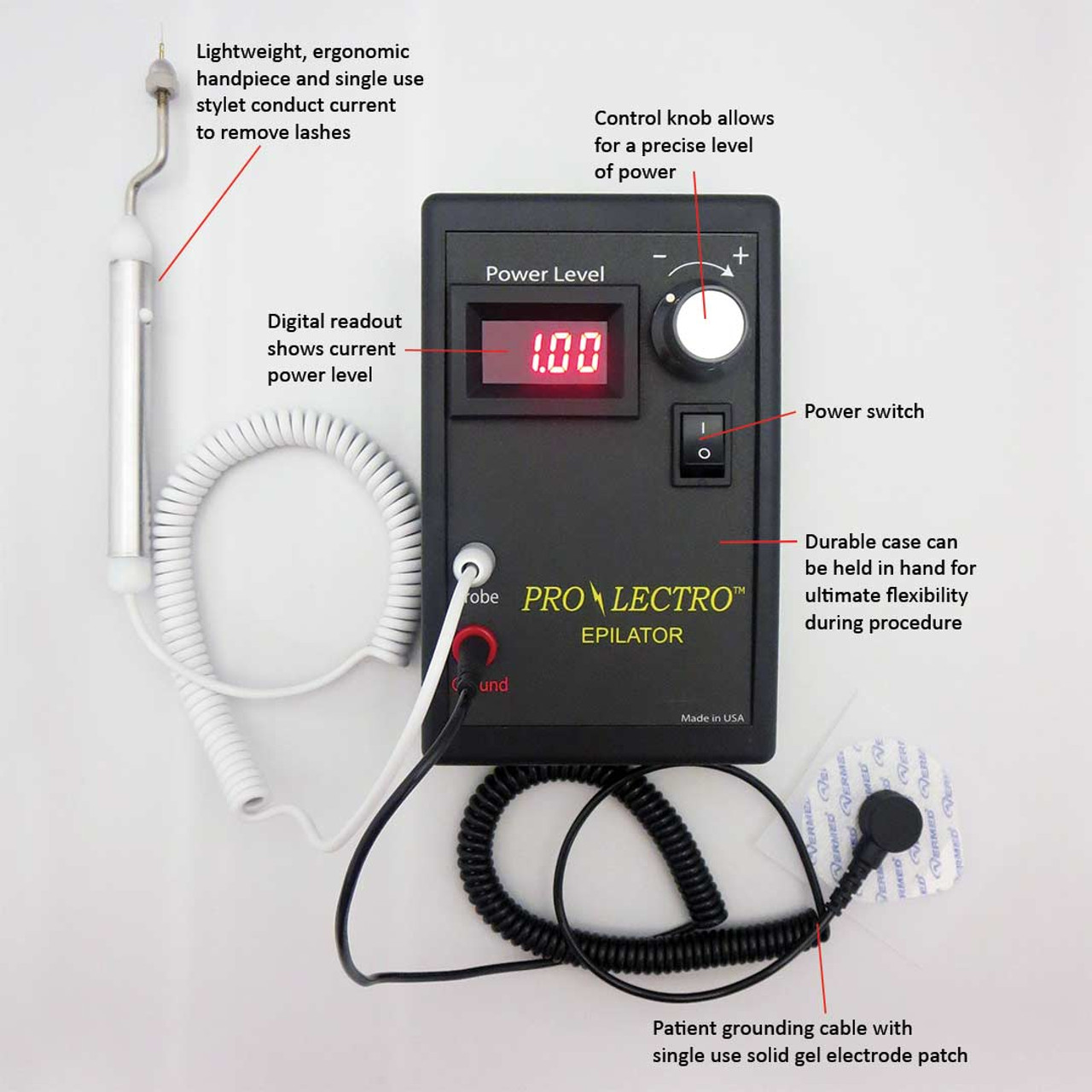 Prolectro Epilator For Electrolysis Of Trichiasis Ingrown Eye