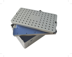 Aluminum Sterilization Tray Large Deep Double Layer Size 10'' x 6'' x 1.5'' (CalTray A4100)