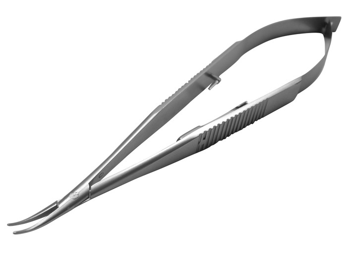 Castroveijo Needle Holder, Curved w/Lock Del. Jaws