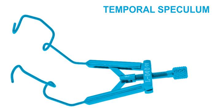Lieberman Temporal Speculum, Rounded V Blades