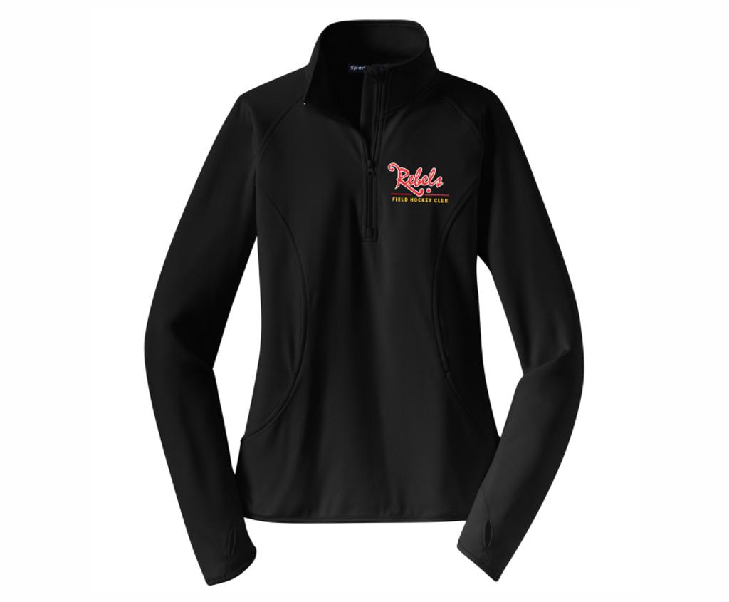 Rebels FH 1/4-Zip PolyStretch Pullover, Black