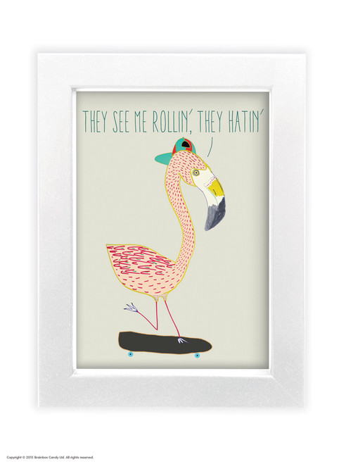 They See Me Rollin' - Quality A3 / A5 Framed Print (Choice of Black or White Frame)