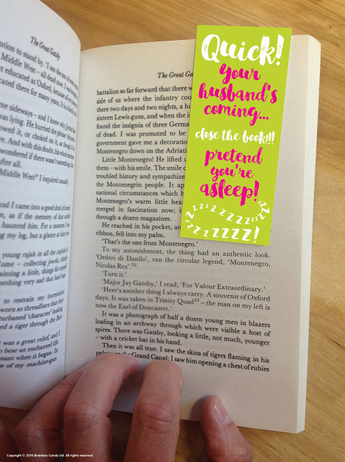 Quick Husband's Coming Magnetic Bookmark