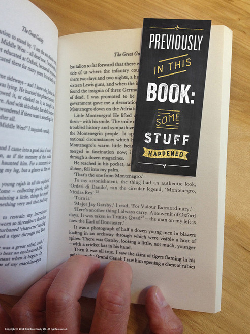 Some Stuff Happened Magnetic Bookmark
