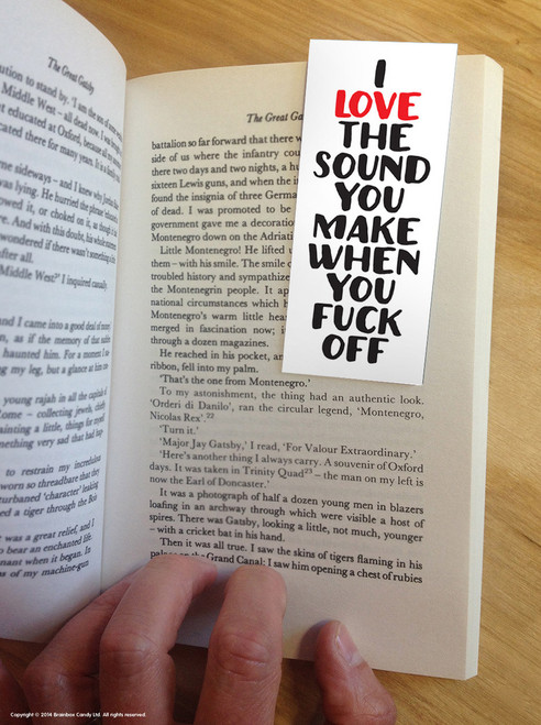 I Love The Sound Magnetic Bookmark