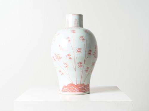 Red Baluster Vase R E V I V A L