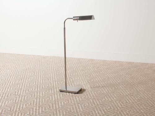 Tent floor lamp nickel