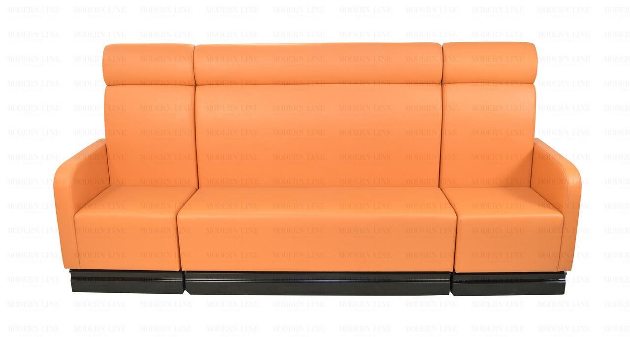MOCHA Modular Orange Leather Sofa