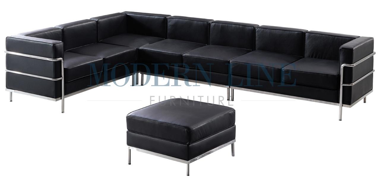 ST002 Le Corbusier Style   Custom Sectional Sofa With Ottoman