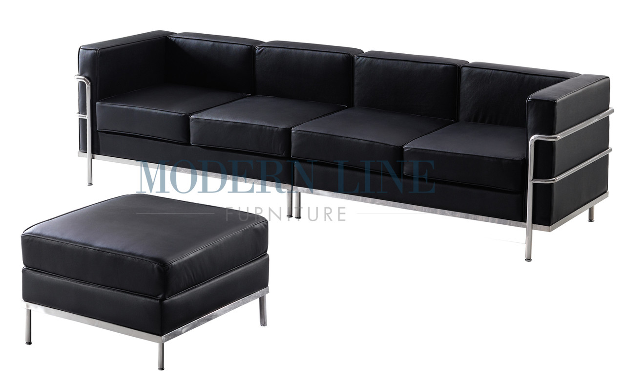 ST002 Le Corbusier Style   Large Sofa With Ottoman
