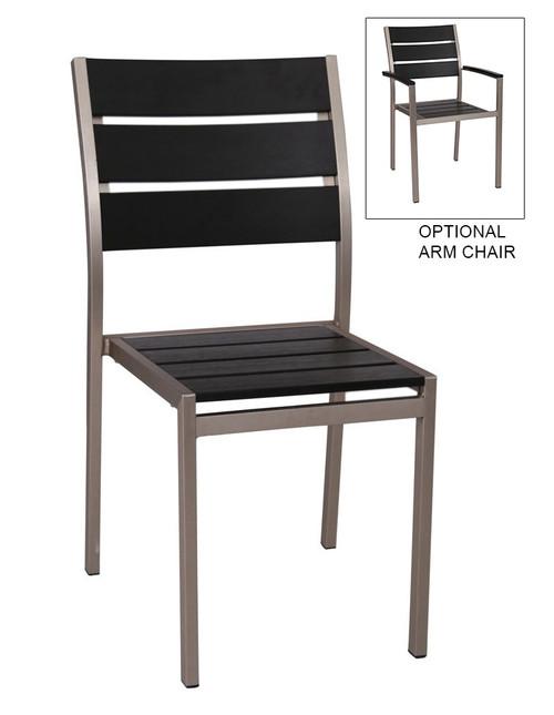 Stackable Outdoor Teak Restaurant Chair