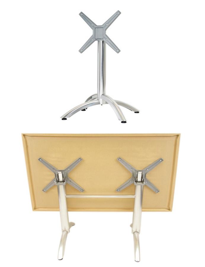 Indoor/Outdoor   Heavy Duty   Aluminum FLIP Table Base (4 Legs,