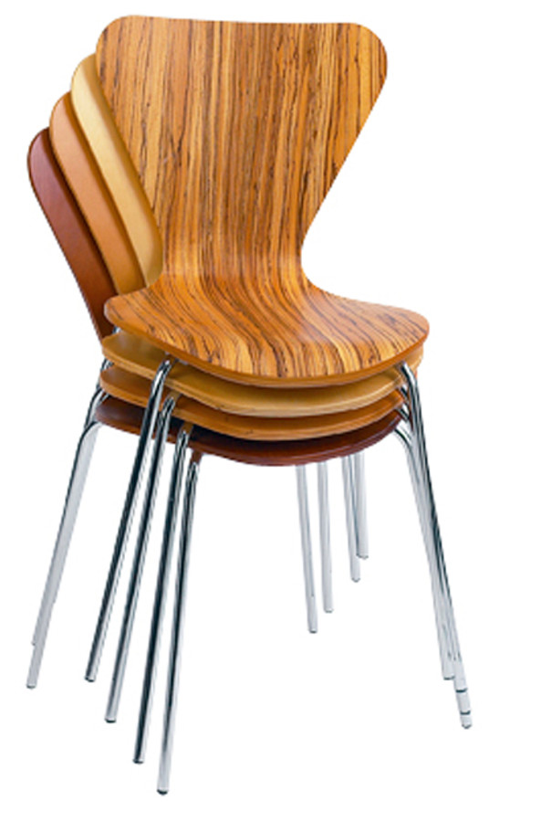 Delicieux Ultra Modern Veener Wood   Stacking Chairs   Commercial Grade
