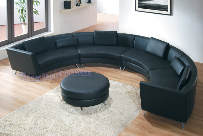 8004 Exclusive Extra Long Curved Sectional Sofa with an ...