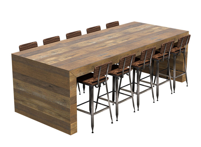 Communal Bar Table Available In Many Finishes ModernLineFurniture - Outdoor communal table