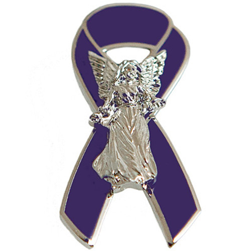 Lapel Pin - Angel (Silver)
