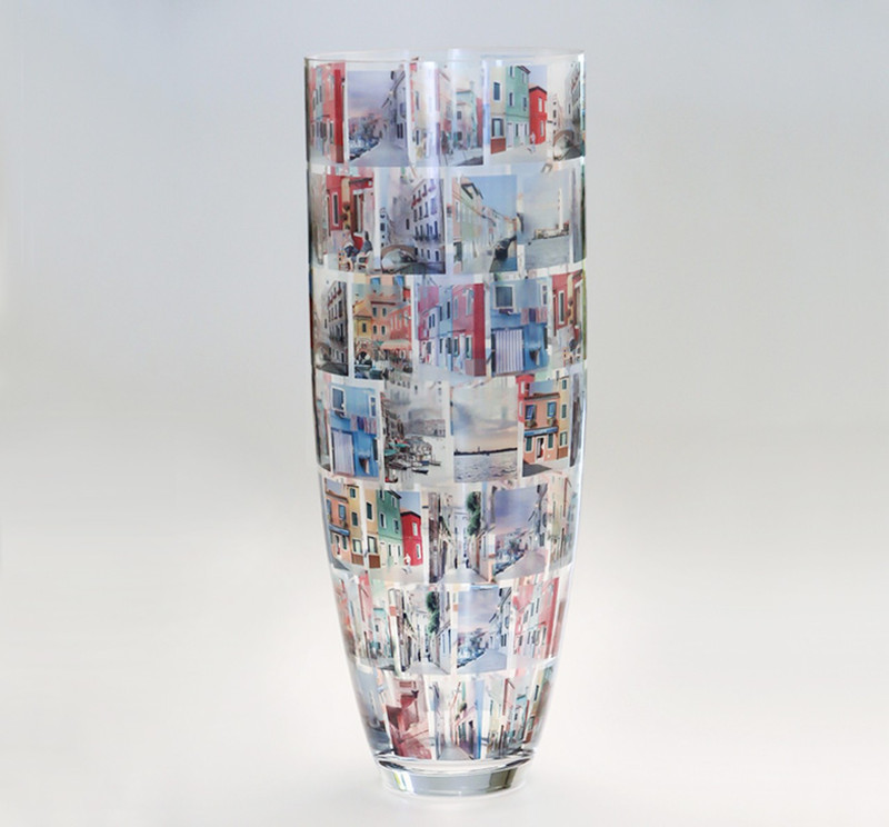 "Grande Memory Vase 20"" tall x 7.5"" diameter Holds 84 photos"