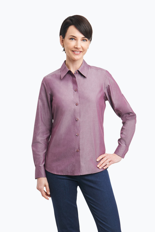 Diane Plus Non-Iron Pinpoint Shirt