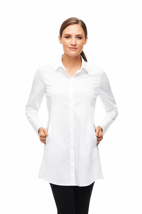 Cici Tunic In Solid Stretch Cotton