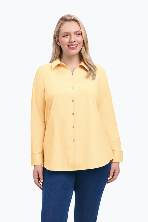 Lauren Plus Non-Iron Pinpoint Shirt On Sale